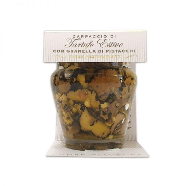 Carpaccio di tartufo con pistacchi